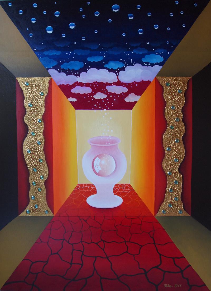 Gemälde 110cm x 150cm, Rita Gil Brand 2014
