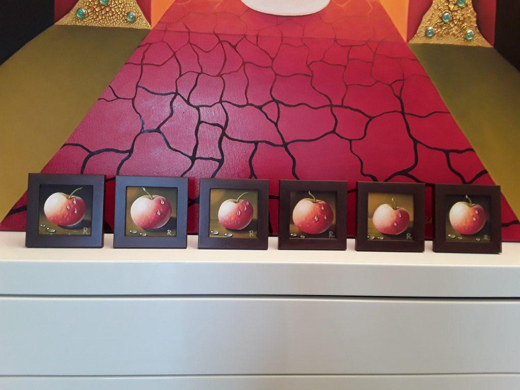 Miniatur-Ölbilder Äpfel von Rita Gil Brand